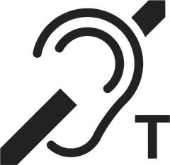 Induktiosilmukka saatavilla -logo